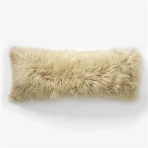 mongolian lamb pillow cover pebble 14 quot x36 quot west elm