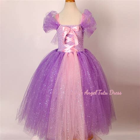 Handmade Disney Princess Dresses - deluxe tangled rapunzel glitter purple dress handmade