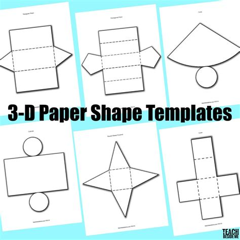 How To Make Paper 3d Shapes - 3d paper shapes teach beside me