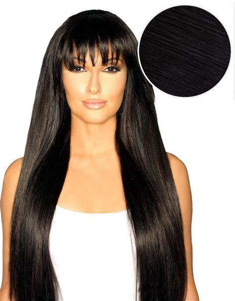 wiki how to get jet black hair cleopatra clip in bangs jet black 1 bellami bellami hair