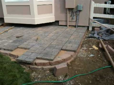 Adding Pavers To Concrete Patio How To Install A Paver Patio Installing A Paver Patio