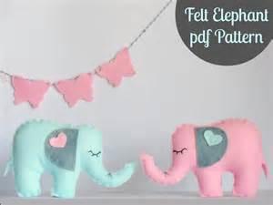 felt elephant pdf by ria sewing pattern