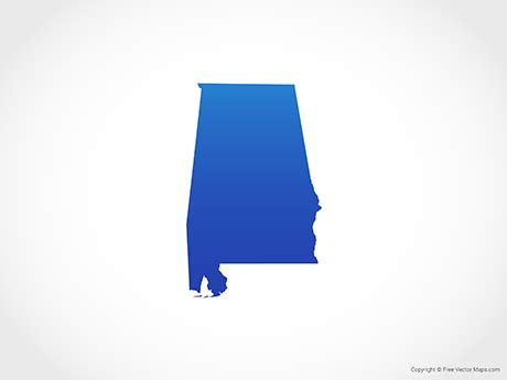 alabama state colors vector map of alabama blue free vector maps