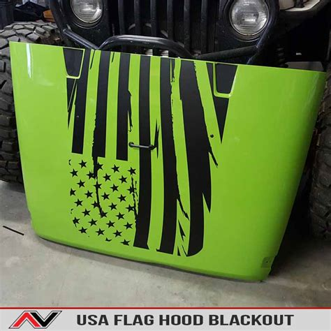 jeep flag decal usa flag jeep wrangler jk