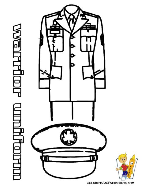 noble army coloring picture uniform coloring female
