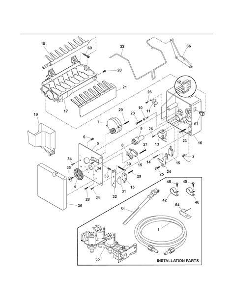 kenmore elite refrigerator parts diagram maker diagram parts list for model 25344393407