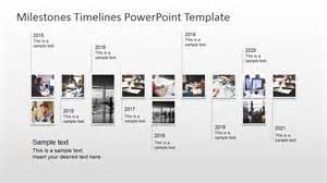 milestone chart templates powerpoint milestones timeline powerpoint template slidemodel