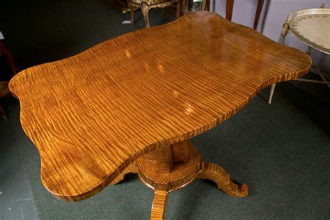 Tiger Tables by Tiger Maple L Table At 1stdibs