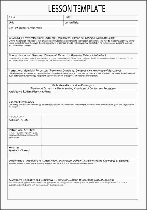 printable danielson lesson plan template 89 special education lesson plan templates teaching