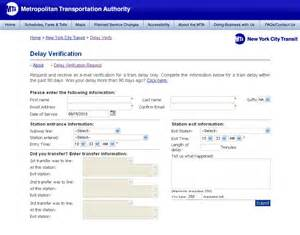 Delay Verification Letter Mta New York City 171 Avi S Cogitations
