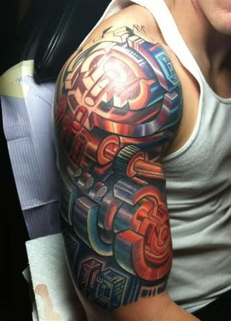 biomechanical arm tattoo biomechanical sleeve tattoos tattoofanblog