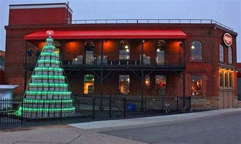 rolf s must see holiday lights big beers and more broke genesee brewing company s keg christmas tree brings on the