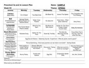 curriculum planning template preschool creative curriculum lesson plan template