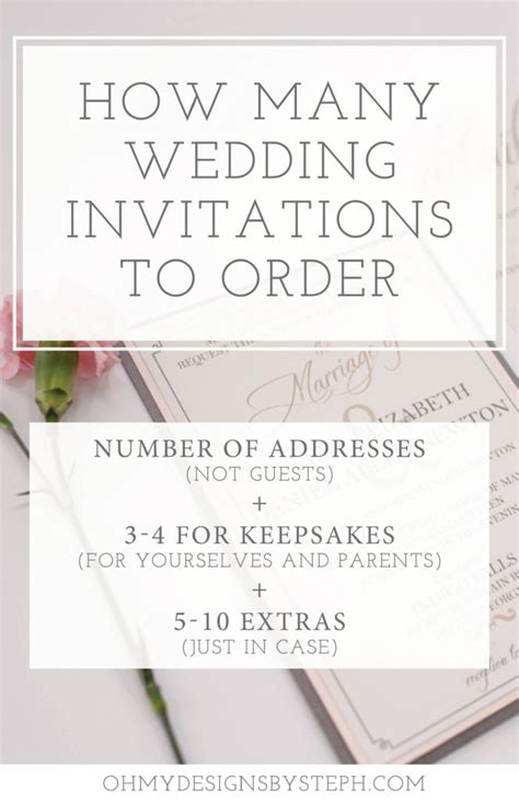 where to order wedding invitations how many wedding invitations should i order oh my