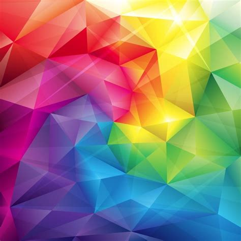 color designs low poly triangular trendy color vector background free