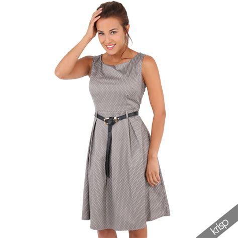 sommerkleid swing damen vintage kleid gepunktetes midi sommerkleid swing