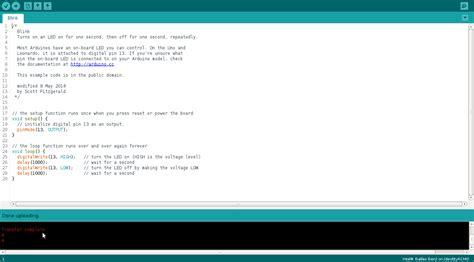 code arduino blink arduino intelgalileogen2