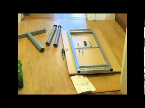 how to assemble ikea desk ikea galant desk lapse assembly