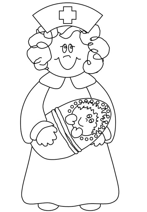 coloring page nurse nursing coloring pages coloring home
