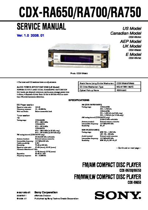 sony cdx ra700 wiring diagram efcaviation