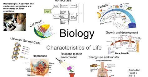 characteristics for biography shs biology anisha byri characteristics of life