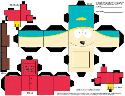 South Park Papercraft - south park paper crafts