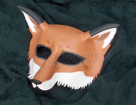 How To Make A Fox Mask Out Of Paper - fox mask by cwicseolfor on deviantart
