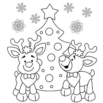 reindeer coloring page free christmas recipes coloring