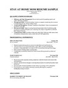 a stay at home resume for parents with a solid amount