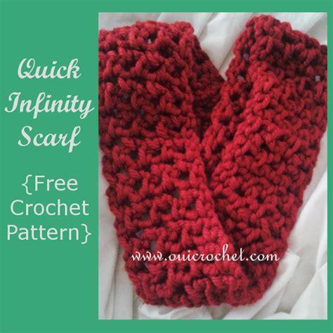 bulky infinity scarf crochet pattern oui crochet infinity scarf free crochet pattern