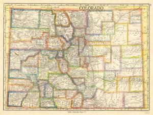 antique maps of colorado