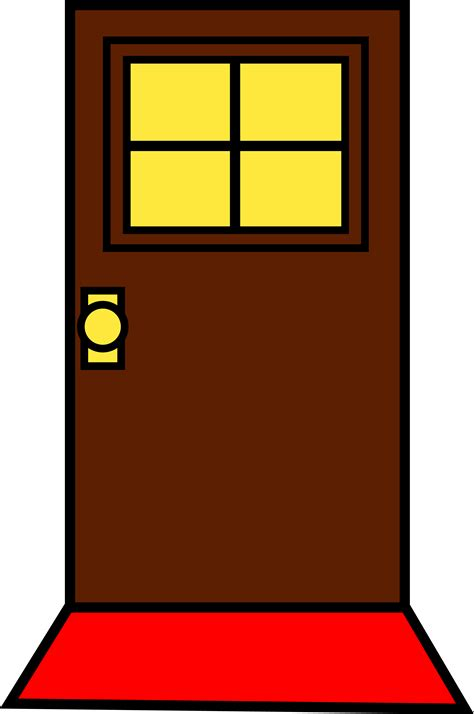 door clipart simple brown door design free clip