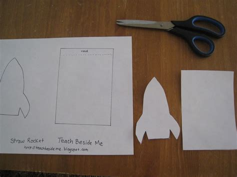 straw template straw rocket with printable template teach beside me