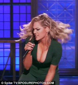 kate upton performs britney spears' hit one more time