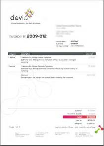 Invoice Template For Designers by Invoice Design Inspiration Best Exles And Practices