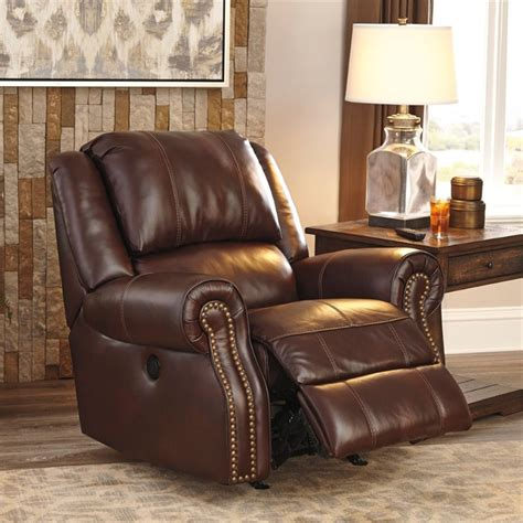 collinsville leather power rocker recliner in