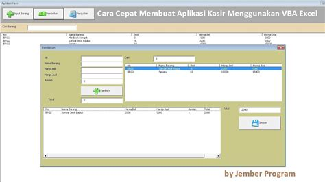 tutorial vba excel lengkap pdf cara membuat aplikasi kasir menggunakan vba di microsoft