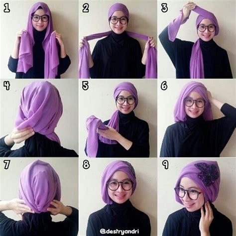tutorial hijab pesta syari  pernikahan simple