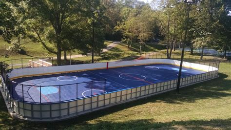 backyard roller hockey rink outdoor riley manufacturing