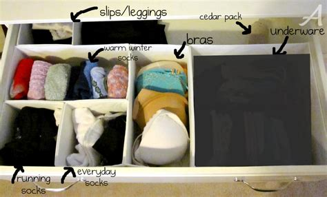 How To Organize A Dresser Drawer by Getting Organized How To Organize Your Closet Dresser