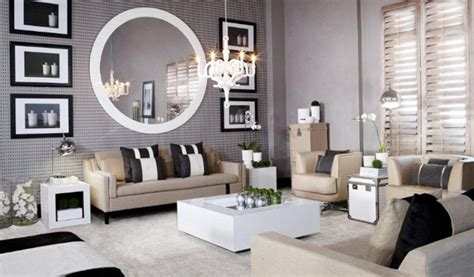 Large Mirror In Living Room Decorating - hoppen of taupe the design tabloid