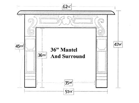 fireplace surround dimensions pictures to pin on pinterest