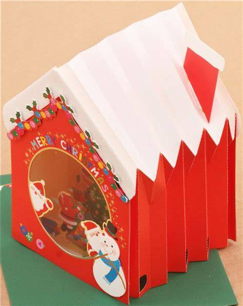 up letter to winter winter house tree letter 3d pop up card