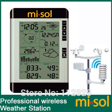 misol pro wireless weather station with pc connection wind