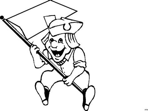 kleiner junge mit fahne ausmalbild malvorlage comics
