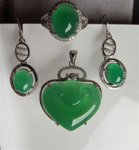 Lose Chrysoprase chrysoprase weight pendant approx 7 5 g earring approx
