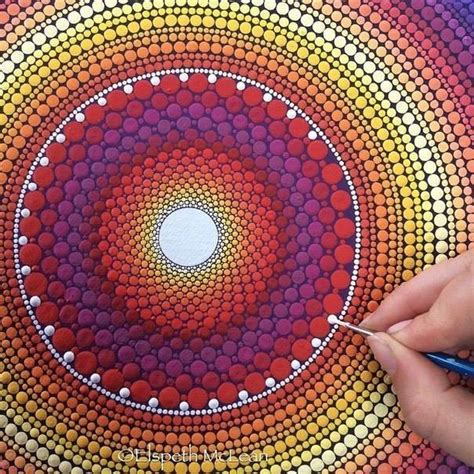 Do It Yourself Home Decor Ideas by Spectacular Mandala Stones From Dotillism Artist Elspeth