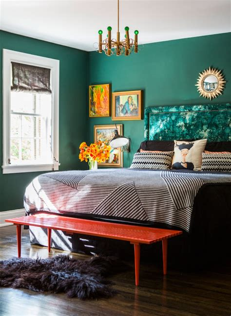 stunnning emerald green bedroom designs master