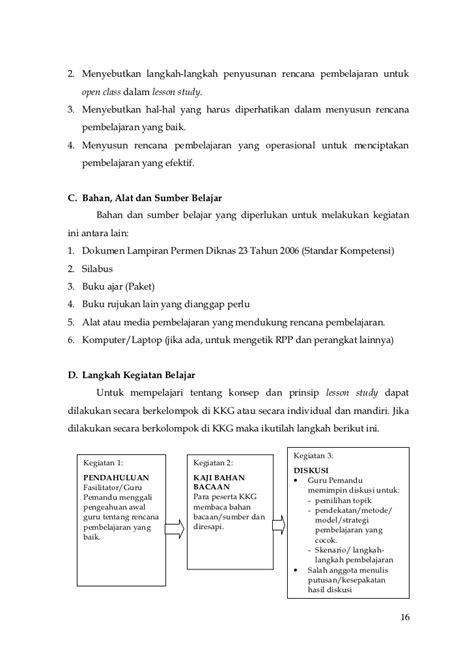 Menyusun Modul Bahan Ajar Untuk Persiapan Guru Daryanto panduan pelaksanaan lesson study