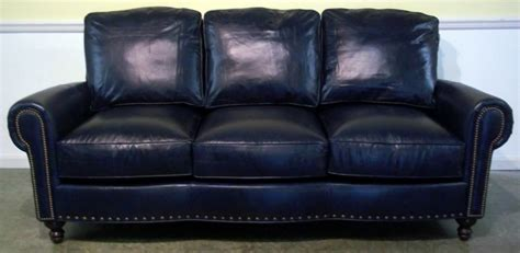 Blue Leather Chair And Ottoman Design Ideas Blue Leather Sofa Home Furniture Design